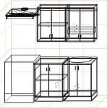 "Кухня ""Оптима"" длина 1,2 м - вариант №2, фото 3"