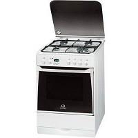 Кухонная плита INDESIT I6GMH6AG W ШxГxВ(60x60x85), верх:газовый, низ:электрический, цвет:белый