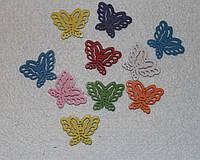 Подвеска деревянная Бабочка 409 упаковка 10 шт, фото 1