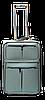 Чемодан дорожный (малый) темно-серого цвета Ч14