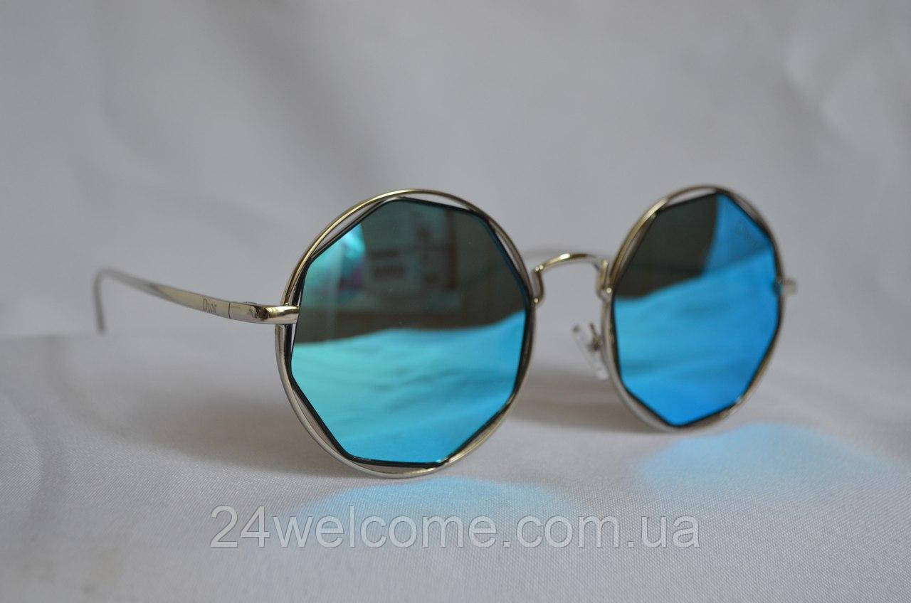 0774b45b033f Солнцезащитные очки женские DIOR круглые 2017 голубой - Интернет магазин  WELCOME в Харькове