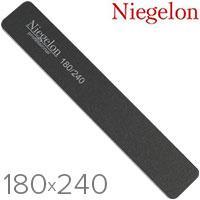 Niegelon Пилочка 06-0321 минерал. E (черная широкая) 180x240