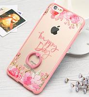 Чехол пластик+розовый ободок силикон Happy Day для IPhone 7/8