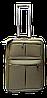 Чемодан дорожный (малый) цвета хаки Ч15