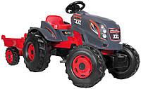 Трактор на педалях с прицепом  Stronger XXL - Smoby - Франция - звуковые эффекты, удобное кресло со спинкой