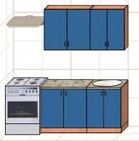 """Кухня """"Оптима"""" длина 1,4 м - вариант №1"""