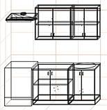 "Кухня ""Оптима"" длина 1,4 м - вариант №1, фото 3"