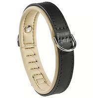 Кожаный ошейник для собак  GIOTTO CLASSIC 20/34 BLACK