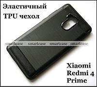 Черный TPU чехол для Xiaomi Redmi 4 Prime бампер накладка эластичный