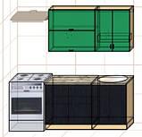 "Кухня ""Оптима"" длина 1,4 м - вариант №2, фото 2"
