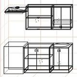 "Кухня ""Оптима"" длина 1,4 м - вариант №2, фото 3"