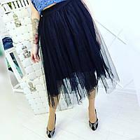 Пышные фатиновые юбки на резинке! Цвет: чёрный, белый и серый