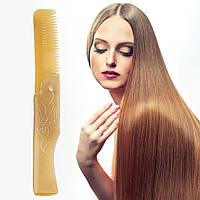 Гребень складной для волос натуральная кость