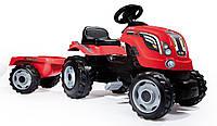 Трактор педальный с прицепом Farmer XL - Smoby - Франция - педали фиксируются при необходимости