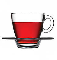 Набор чайных чашек с блюдцами pasabahce 95040 agua 215 мл 6 штук