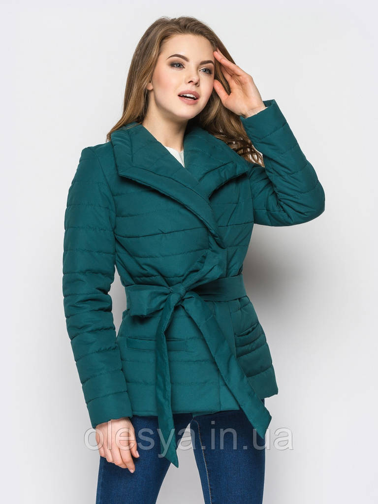 0282d8524808 Куртка женская демисезонная С16, демисезонная женская куртка, короткая куртка  осень, весна, дропшиппинг