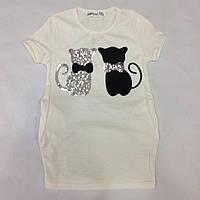 Детская футболка для девочки оптом 116-134