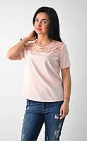 Молодежная женская блузка с коротким рукавом