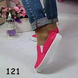 Слипоны текстиль на платформе розовые 37,40  размеры А5752, фото 2