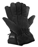 Перчатки флисовые +утеплитель Thinsulate (черные)