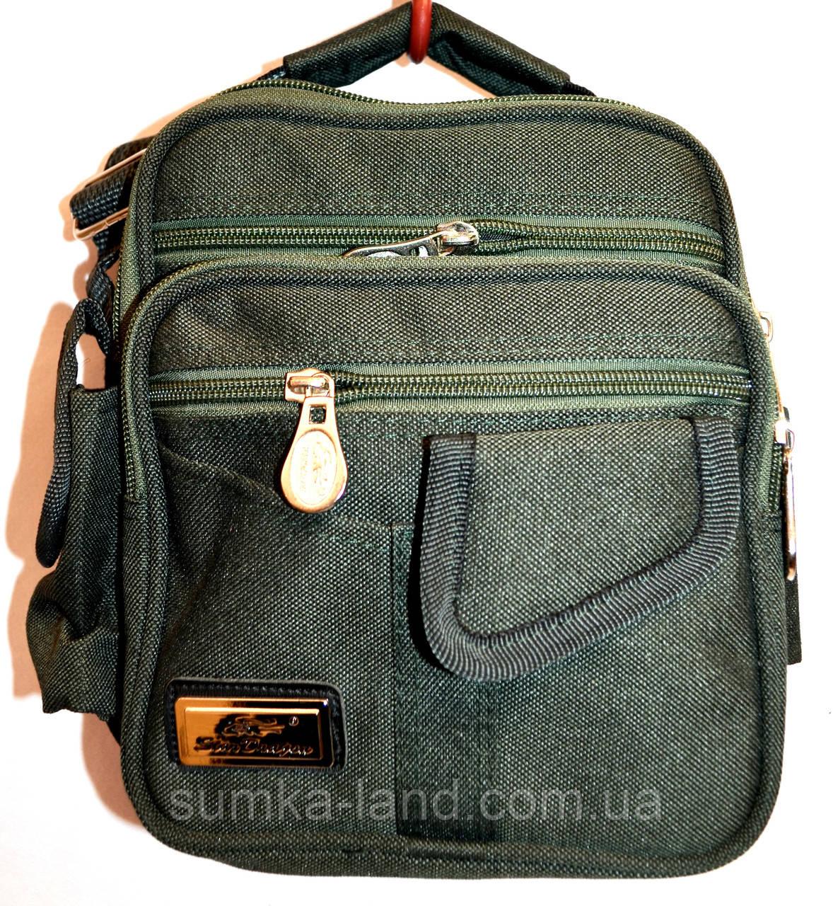 Текстильные мужские барсетки и сумки на плечо (ХАКИ)