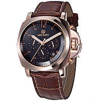 Мужские наручные часы Megir Luminor Gold (№ M-3006)/ ГАРАНТИЯ/ АКЦИЯ