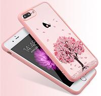 Чехол пластик+розовый ободок силикондля IPhone 7+/8+