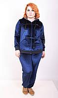 Спортивный костюм женский большого размера Велюр бата (2 цвета), велюровый костюм большого размера