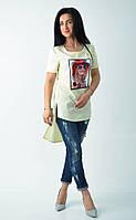 Оригинальная женская туника с принтом