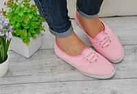 Мокасины, цвет розовый Материал: обувной текстиль