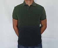 Мужская футболка с воротником
