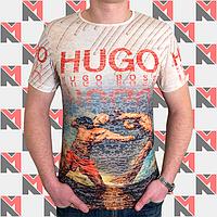 Мужские футболки HUGO BOSS - 0205 песочный