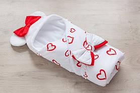 """Конверт одеяло """"Минни"""" с сердечками"""