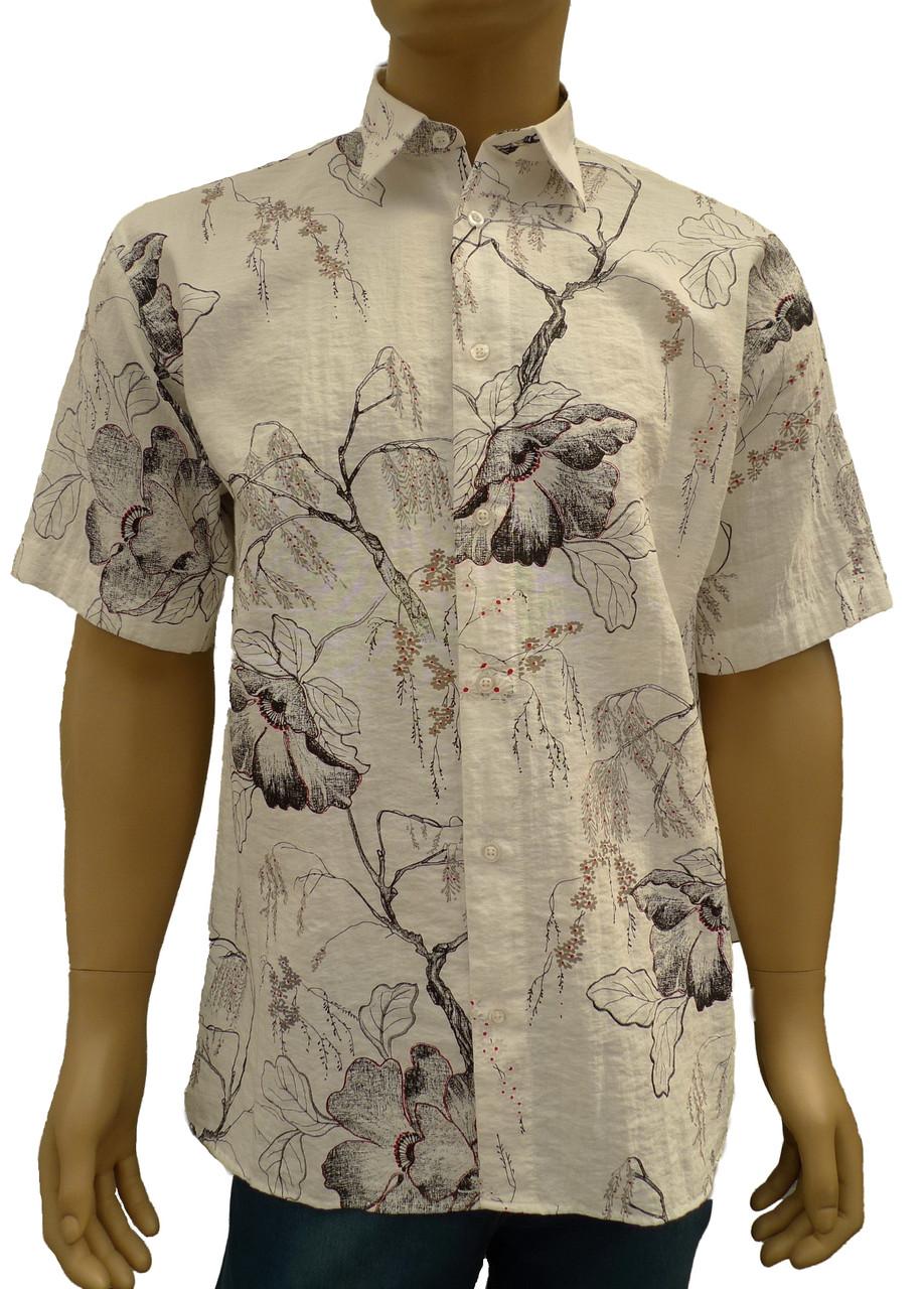 модная рубашка с цветами