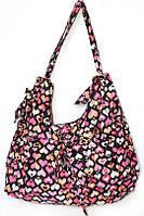 Сумка летняя бантик 12278  сердце (2 цвета), женская сумка удобная
