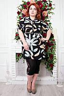 Рубашка женская большого размера перо В 785, женская одежда для полных
