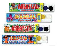 Краски акварель Люкс 6цветов медовые (картонная упаковка) уп81