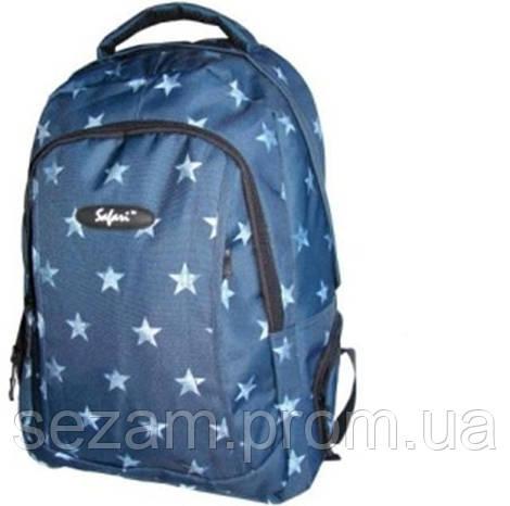 Ранець-рюкзак, 2 в-ня., 43*30*18см,600D PL, син.,97016, SAF