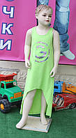 Платье для девочки трикотаж салатовый 5-11 лет Турция