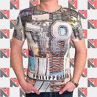 Модная мужская футболка PHILIPP PLEIN - 0209 серый