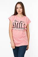 Женская футболка с принтом Smile цвет розовый p.48-50 Senrise 5 SS37-1