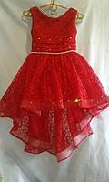 Детское нарядное платье   5-7  лет,красное