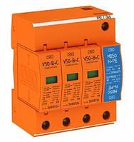 Молниеприемный разрядник и устройство защиты от перенапряжений V50-B+C 3+NPE Класс I+II OBO Bettermann
