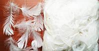 Перья декоративные белые 120 шт