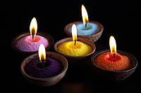 Цветные насыпные свечи - все цвета, в подарок фитиль