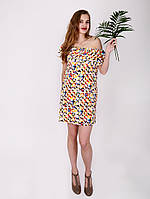 Платье с воланом - 1013