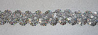 Тесьма декоративная люрекс серебро  6118
