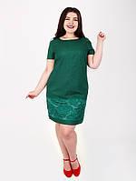 Батальное платье с льна - 1016