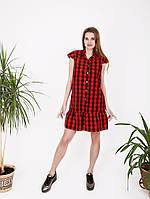 Платье с планкой и пуговицами - 990