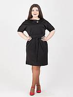 Платье с брошью на горловине - 992